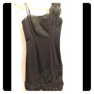 Bebe Black Flower Detail Dress 0